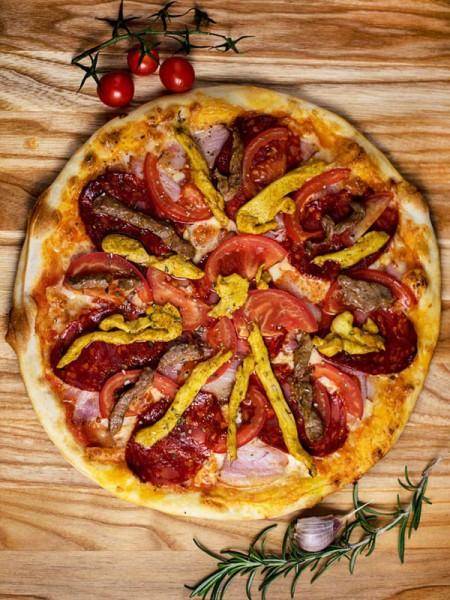 Пицца 4 мяса 30 см в меню кафе Сити в Черноморске